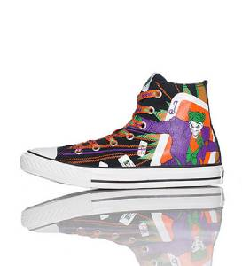a5451f0271c5 Converse BATMAN   JOKER HI TOP Shoes 3 Sets Laces Wild Lining NIB ...