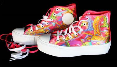 OF PARADISE HI-TOP Platform Shoes NWT