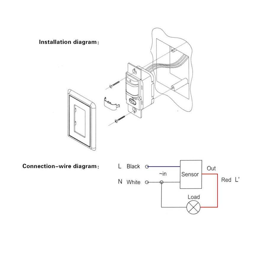 Infrared Body Motion Detector Pir Sensor Led Lamp Switch Light Wiring Diagram On Control Sensors