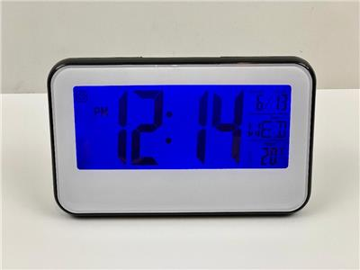 Modern LCD Display Digital Alarm Clock LED With Calendar Electronic Desk Table