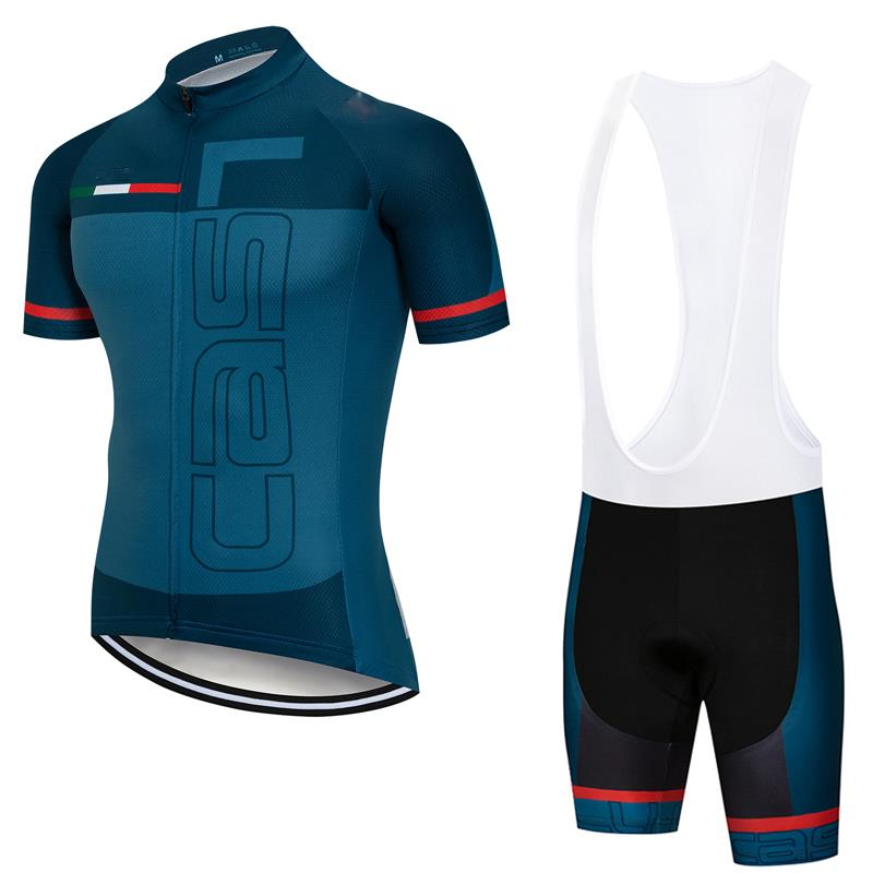 Bib Shorts Padded Kit Men/'s Bicycle Clothes Set USA Team Cycling Shirt and