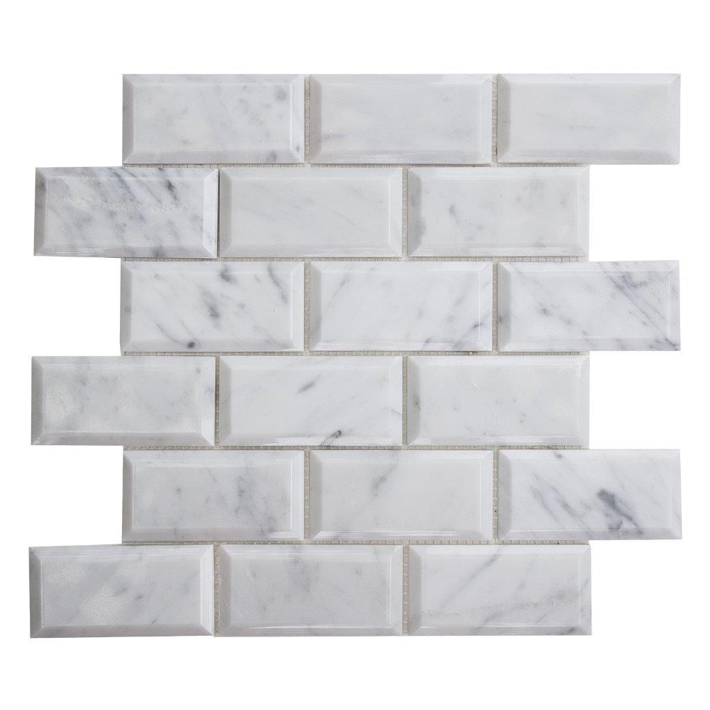Details About Carrara White Marble Wall Kitchen Backsplash Bathroom Mosaic Tile Cwmm0204 B