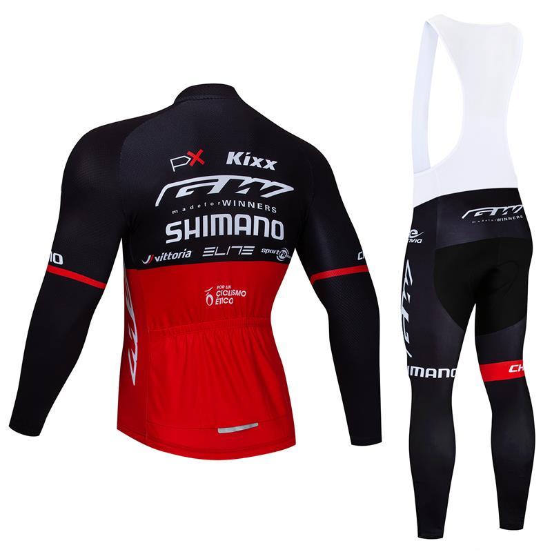 Regular Men/'s Cycling Long Sleeve Shirt Bib Pant Set