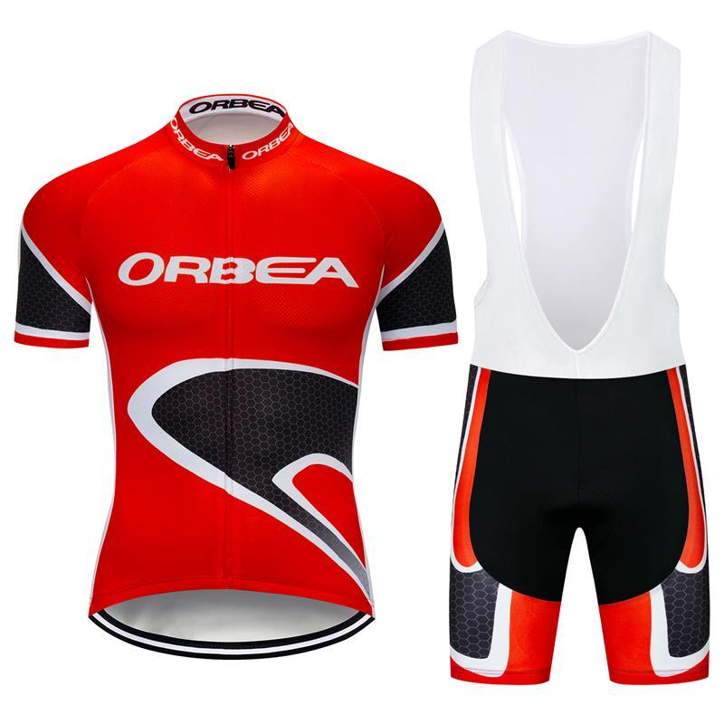 2021 Mens Cycling Jerseys Bib Shorts Set Cycling Clothing Bicycle Short Sleeve