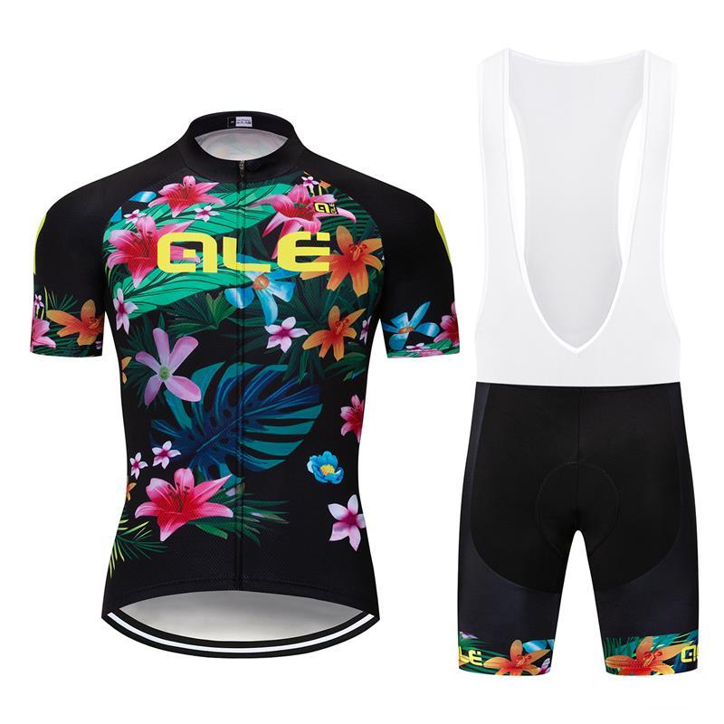 Men Cycling Jersey Bib Shorts Set Cycling Bib Shorts Cycling Short Sleeve Jersey