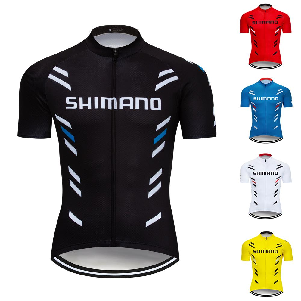 Mens Top Cycling Short Sleeve Bike Shirts breathable hi-viz cycle jerseys UK