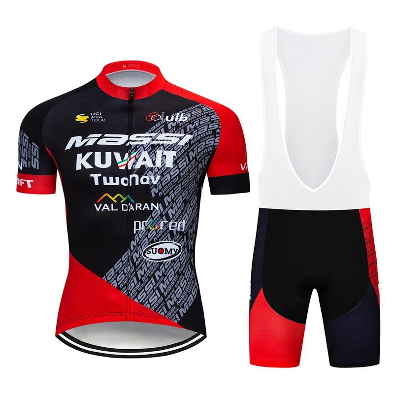 New Short Men/'s Cycling Clothing Kits Jersey Bib Shorts Set Shirt Maillots Pants