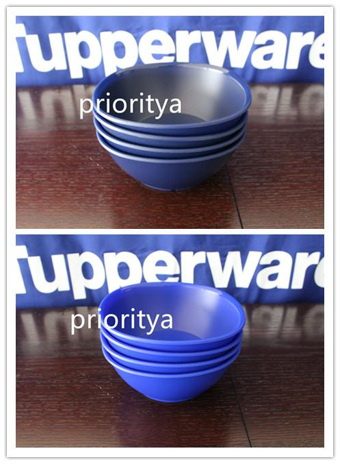 4 New Tupperware Blue Legacy Small// Kid/'s Cereal or Soup// Rice Bowls