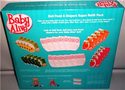 Baby Alive Doll Food Amp Diapers Super Refill Pack 10 Food