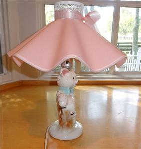 Vintage Collectible Ceramic Lamb Nursery Child Girl Baby