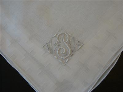 Vintage Irish Linen Men S Handkerchief Madeira Monogram P