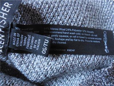 NWT Eileen Fisher Merino Wool Hat /& Glovette Set Charcoal
