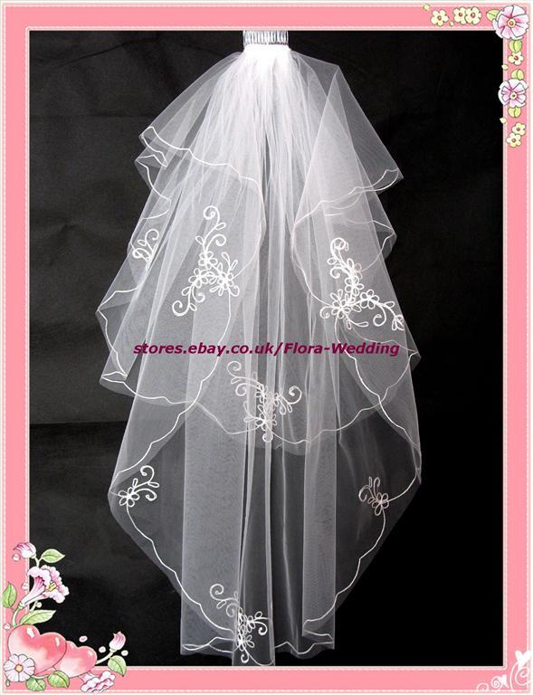 2 Tier Bridal Wedding Veil Diamante Amp Fingertip