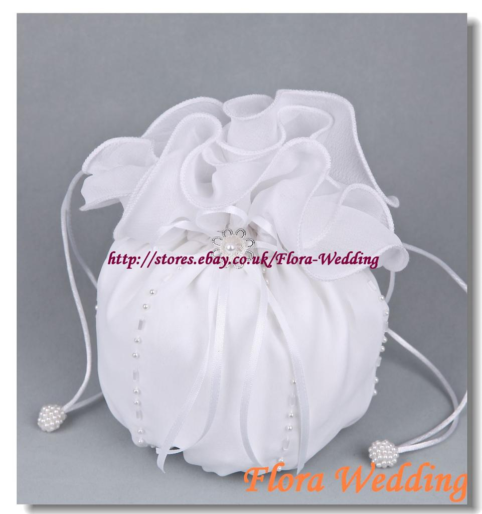 Chiffon Bridal Dolly Bag//Flower Girl Bridesmaid Handbag//Communion Pouch,beads