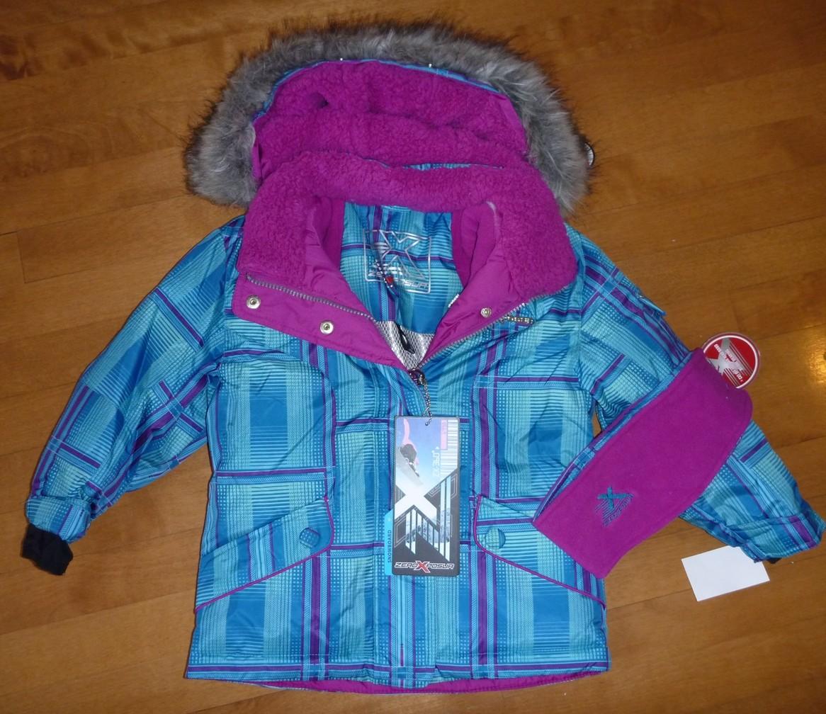 Nwt Girls Zeroxposur Winter Coat Ski Jacket Size Xs 4 5