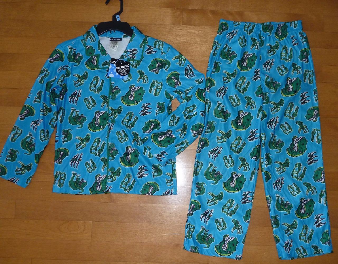 Green Cute Dinosaur Kids Baby Boy Girls Pajamas Set T