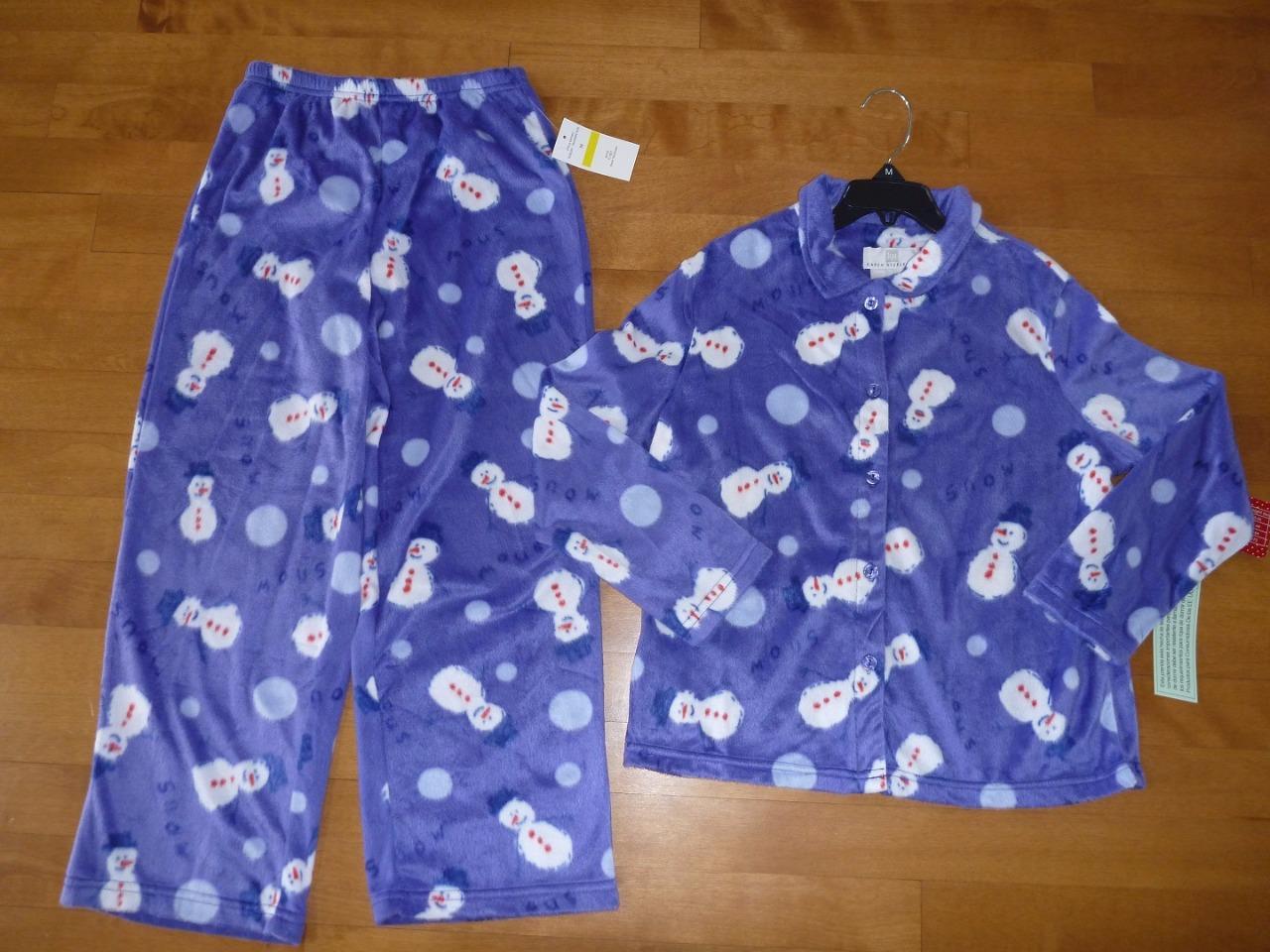 Girls KAREN NEUBURGER Christmas Fleece Pajamas Size 7/8 ...
