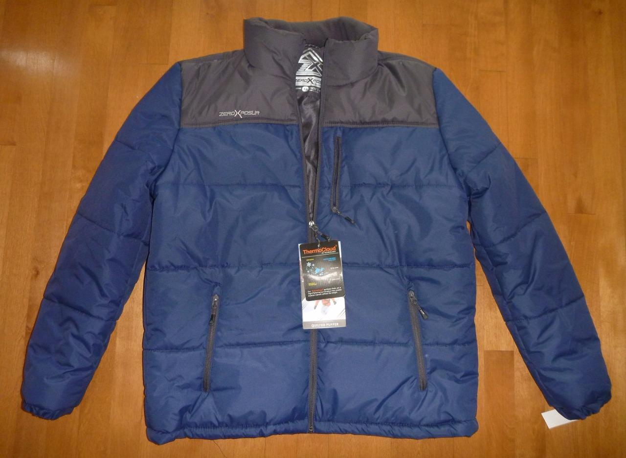 Men Zeroxposur Quilted Puffer Jacket Winter Coat Size L Xl