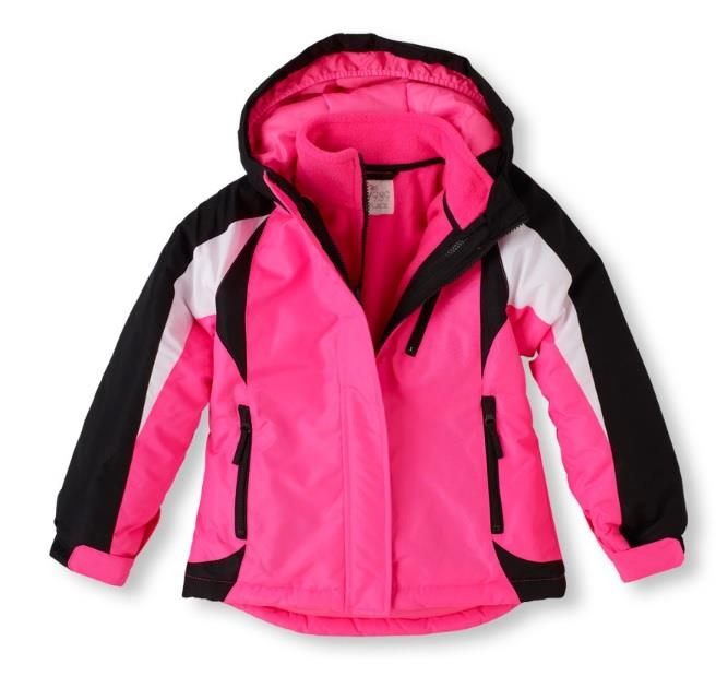 Girls 3 In 1 The Childrens Place Winter Coat Ski Jacket