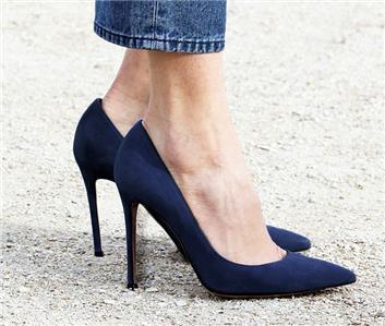 0b858b0fd3bb4 $595 New SERGIO ROSSI GODIVA Dark Blue Size 38 Suede Pumps Shoes | eBay