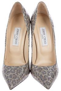 bc9ae26f76 $625 JIMMY CHOO Leopard ANOUK Glitter 40 Pumps Shoes Heels | eBay
