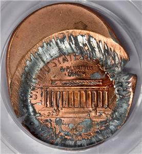 PCGS Mirror Cent Error Mint 25% Cent Brockage Lincoln ...