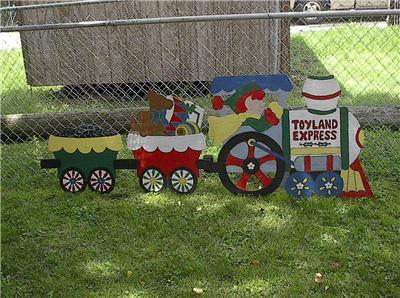 Christmas Toyland Express Yard Decoration Large 3pc. Wood ...