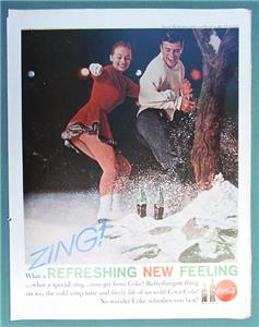 Details about ZING WHAT A REFRESHING NEW FEELING Original 1960 Coca Cola Ad  10 x 13 5