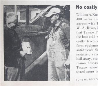 Details about Original 1959 Texaco Ad Photo Endorsed by William Kunz of  Chillicothe Ohio
