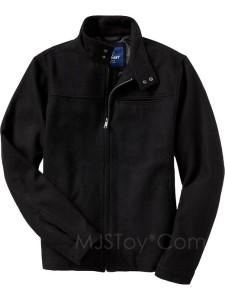 Nwt Old Navy Black Wool Blend Zip Men Jacket Winter Coat