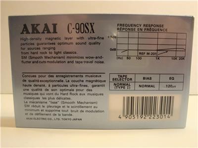 Akai Sx90 10 Pack Case New Amp Still Sealed Sx 90 Cassette
