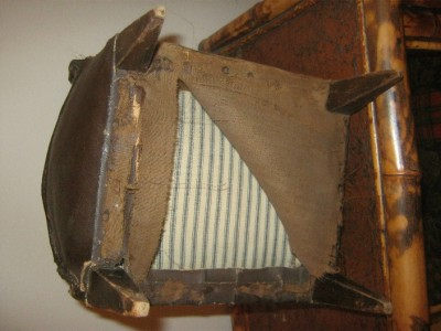Antique Art Deco Salesman Sample Leather Club Chair
