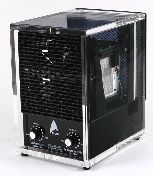 Acrylic Air Purifier Ozone HEPA Ionizer UV