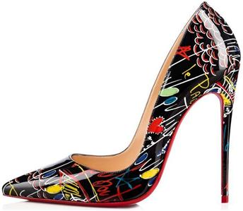 official photos bf2d1 5eb51 Details about Christian Louboutin SO KATE120 Patent Loubitag Graffiti Heels  Pumps Shoes $725