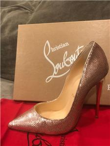 9f95f0872c9 Details about Christian Louboutin SO KATE 120 Sequin Stiletto Heels Pumps  Shoes Nude Pink $775