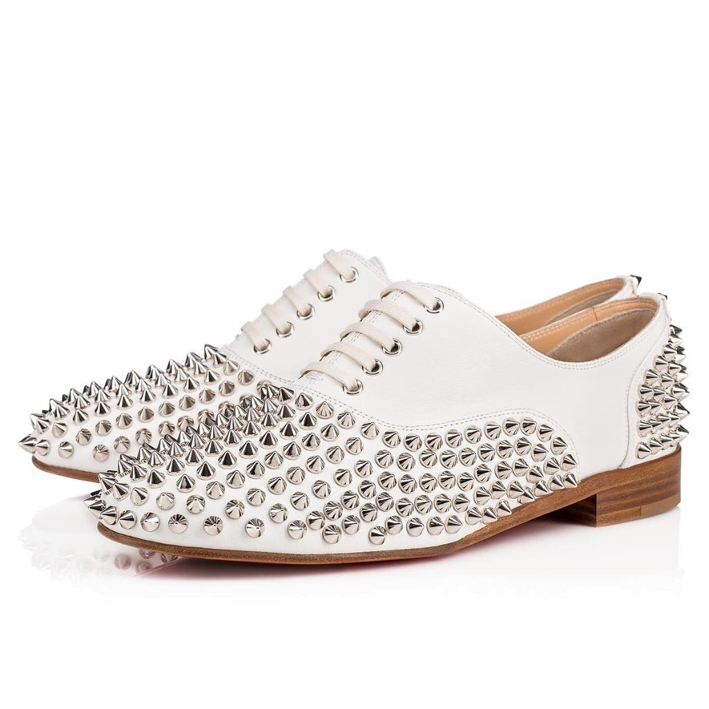 c64a27eea687 Image is loading Christian-Louboutin-FREDDY-Spikes-Donna-Studded-Lace-Up-