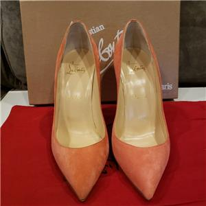 dfc3e80aa39f Christian Louboutin PIGALLE FOLLIES 100 Suede Heel Pump Shoes Charlott Pink   695