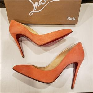 29882a50fc70 Christian Louboutin PIGALLE FOLLIES 100 Suede Heel Pump Shoes Charlott Pink   695. Click images to enlarge