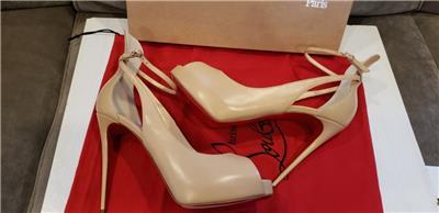ab51bdd7f21 Details about Christian Louboutin MASCARALTA 120 Platform Pump Heels  Sandals Shoes Nude $995