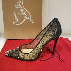 1c9c7996958b Christian Louboutin LACE 554 SPIKES 100 Studded Heels Pumps Shoes Black  995