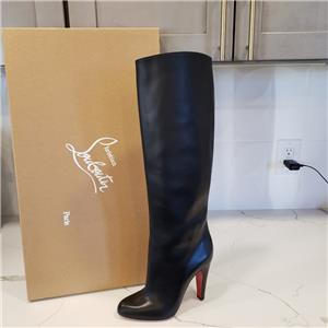 sale retailer 1325c 32400 Details about Christian Louboutin MARMARA BOTTA 100 Knee High Leather Boots  Heels Black $1295