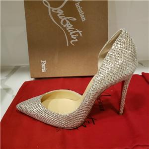 4b94470e6b0a Christian Louboutin IRIZA 100 Glitter Damas D Orsay Heels Pumps Shoes  745
