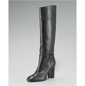 475f8bb4c04 Details about Christian Louboutin MERVILLON 85 Black Leather Belted Knee  High Boots $1495