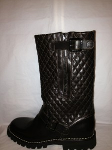 Chanel 2013 Brown Quilted Leather Motorcycle Biker Zipper