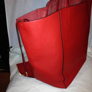 5bb3320180b1 CELINE Phantom Cabas Large Red Leather Tote Shopping Bag Shopper w ...