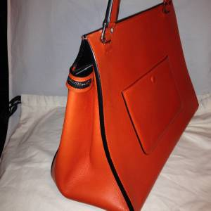 4b110462aa This Celine Edge bag in Calfskin Leather Feautures a large front zip  Closure that extends across the bag and has a thick shoulder strap with a  7