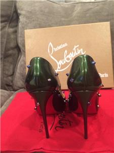 d4146765acb9 Christian Louboutin DEGRASPIKE 120 Studded Heels Shoes Ombre Blue ...