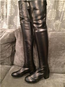 73396f8707c Chanel s ultra cool designs are high class and in high demand all over the  world. 15A 2015 Collection. Stretch lambskin leather thigh high boots ...