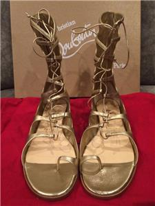 2e5a6a1da39f Sparty Metallic Leather Gladiator Sandals These flat metallic leather  gladiator sandals are modern-cool doses of Grecian goddess glamour.