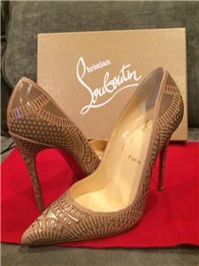 765c59f318b0 Christian Louboutin KRISTALI 120 Laser Cut Patent Heels Pumps Shoes ...